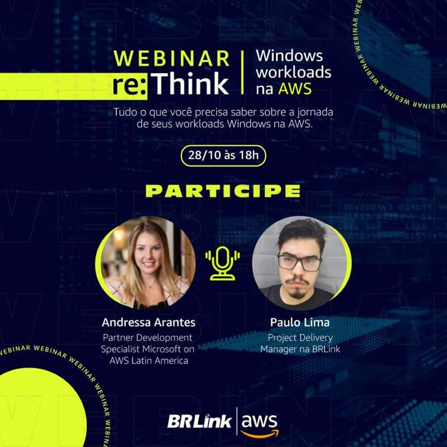 BRLink e AWS promovem webinar gratuito de re:Think Windows Workloads