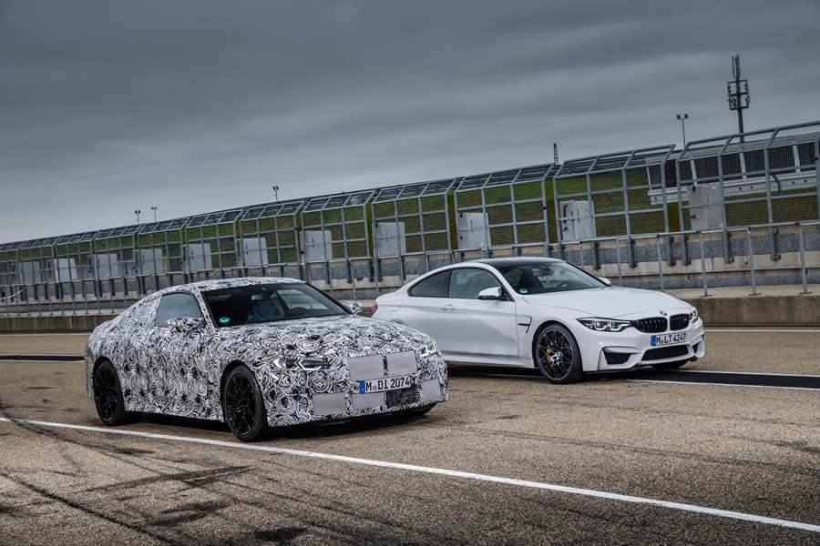 Novos BMW M3 Sedan e M4 Coupé na pista: sprint final à primeira linha do grid de largada