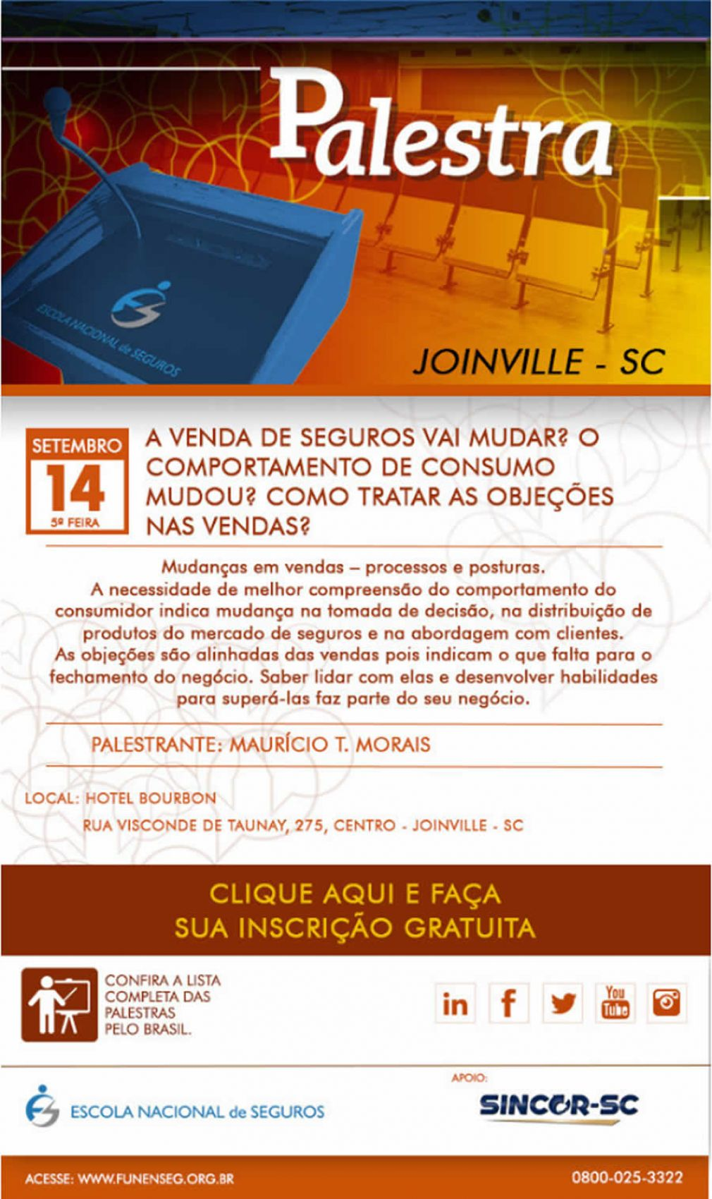 SincorSC Apoia Palestra em Joinville