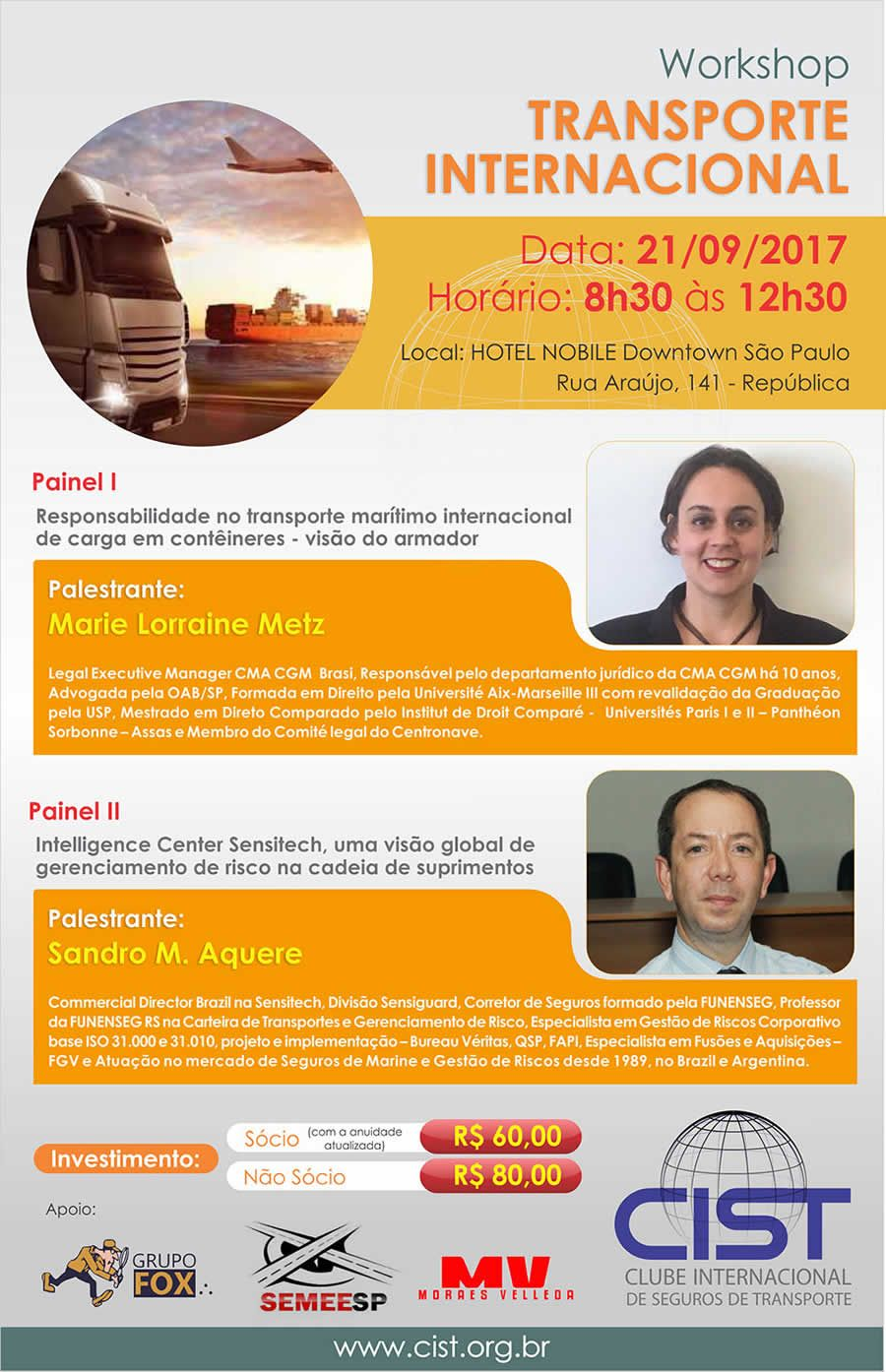 "CIST - Encontro de Negócios | Workshop: ""Transporte Internacional"" 