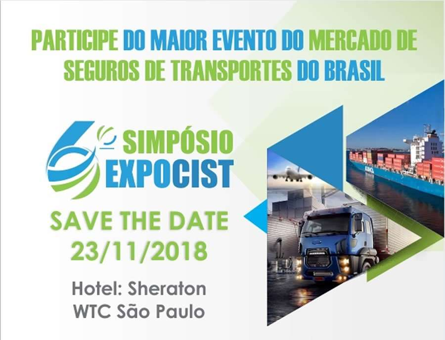CIST : VI Simpósio EXPOCIST - Participe do Maior Evento do Mercado de Seguros de Transportes do Brasil