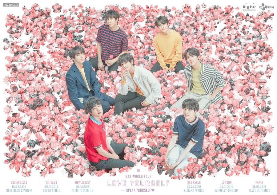 BTS Anuncia Novos Shows de Estádio de Sua Turnê Mundial 'Love Yourself: Speak Yourself'